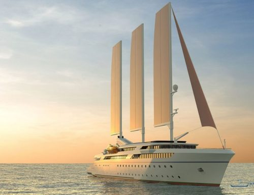 Wind powered cruise ship design