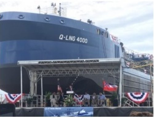 LNG bunkering barge for Carnival christened