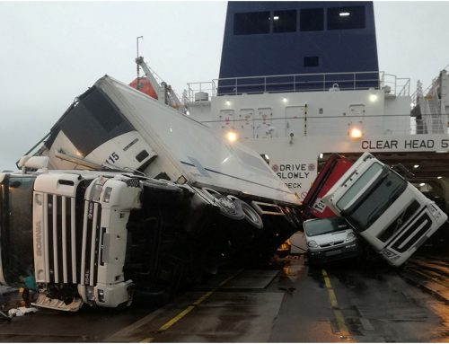 Report on vehicle damage on board ropax 'European Causeway'