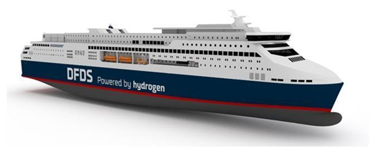 DFDS investigates hydrogen powered ropax
