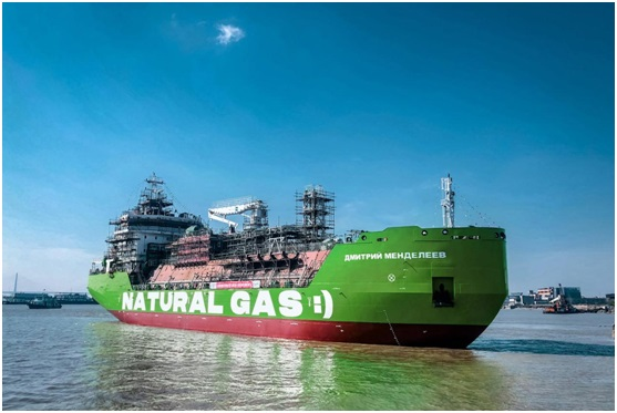 Russia's first LNG bunker tanker hits the water