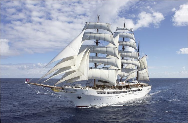 'Sea Cloud Spirit' being fitted out in Spain