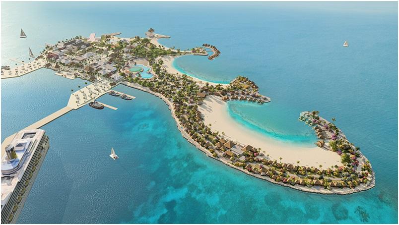Construction of Belize's Port Coral underway